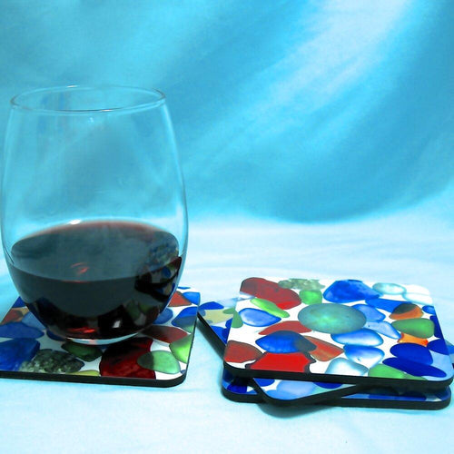 Sea Glass Coasters - Artisan Giftmas