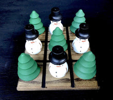 Load image into Gallery viewer, Snowman and Tree Tic-Tac-Toe Set - Artisan Giftmas