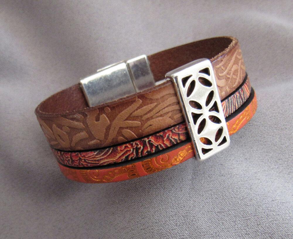 Triple Cord Leather Bracelet