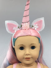 Load image into Gallery viewer, Unicorn Tulle Doll Outfit and Headband