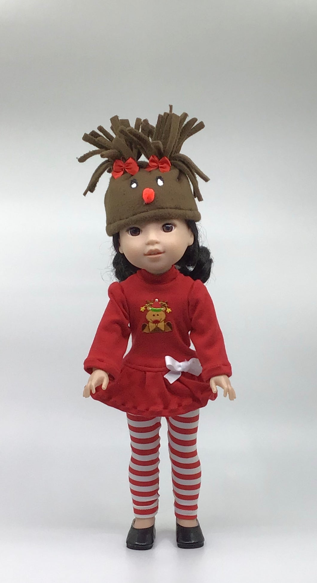 Wellie Reindeer Leggings Doll Outfit Set