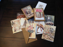 Load image into Gallery viewer, Coffee Lovers' Christmas Greeting Card of Postcard Variety 10 Pack