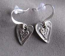 Load image into Gallery viewer, Very Small Silver Heart Earrings
