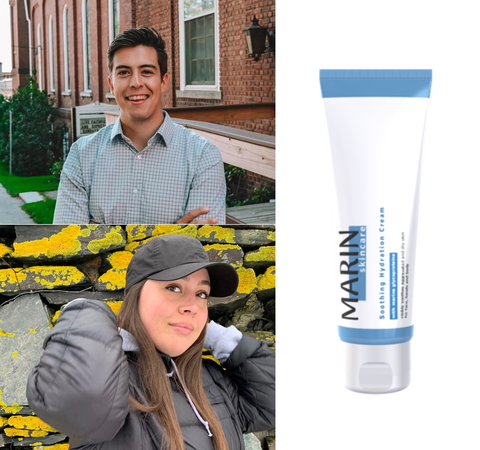 Patrick Breeding and Amber Boutiette, co-founders of Dermarus and eczema skincare brand Marin Skincare