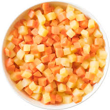 Diced carrot and Swede (500g)