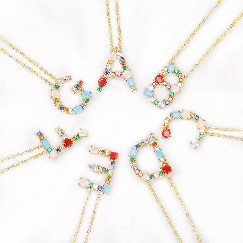 Colorful Letter Necklace (Makes A Great Gift!)