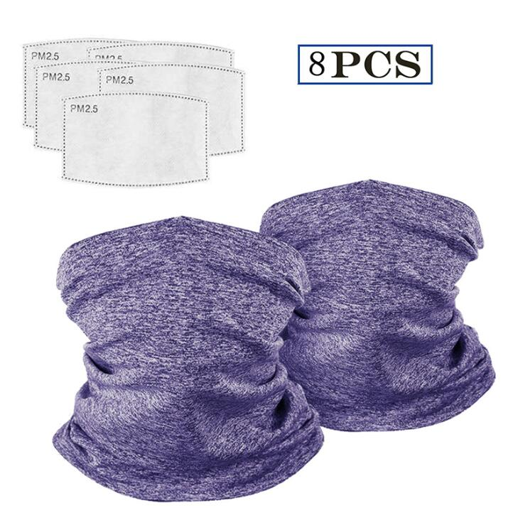 8 Piece Multi-Purpose Face Covers With Carbon Filters