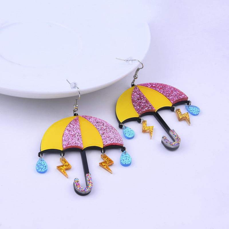 Cute Acrylic Umbrella Earrings