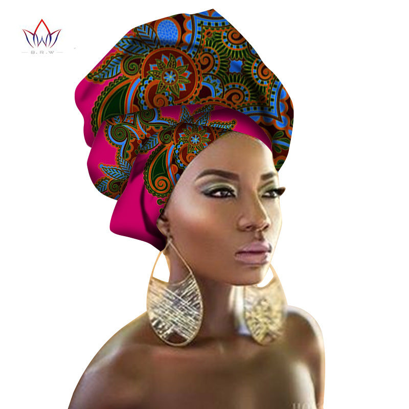 Exotic Multi-Colored Head Wrap Scarf