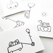 Load image into Gallery viewer, colour your own 5 pack | Greeting Cards