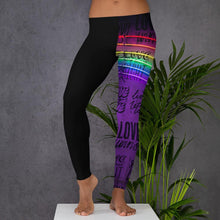 "Load image into Gallery viewer, *Graffiti at night"" Women's custom, workout, athletic wear, leggings"