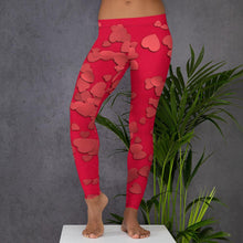 "Load image into Gallery viewer, ""Hearts"" Women's custom workout clothes, leggings, athletic"