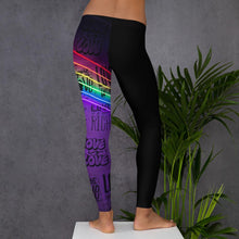 "Load image into Gallery viewer, *Graffiti at night"" Women's, custom, workout, athletic wear, leggings"