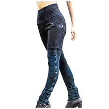 Load image into Gallery viewer, Womens Vintage Patchwork Faux Leather Slim pant with Rivets - Hmlegacy