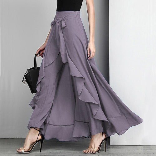 Women's, High waist, elegant, palazzo pants with drawstring