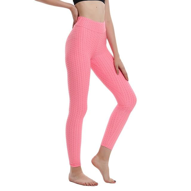 High waist, bubble print, leggings, pink, women, workout, athletic wear