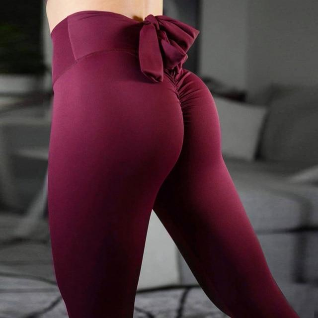 High waist, workout clothes, athletic, wine, leggings for women