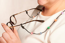 "Load image into Gallery viewer, Glasses strap with paper beads ""Victoria"""
