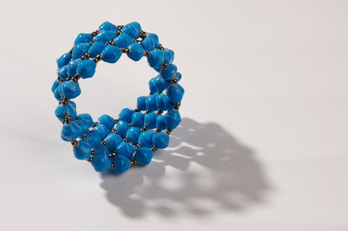 Kreolenarmband in Blau Viva Bangle