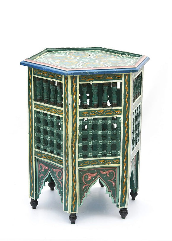 Moroccan Hand Painted Tea Table