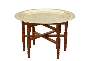 Solid Brass Moroccan Tea Table