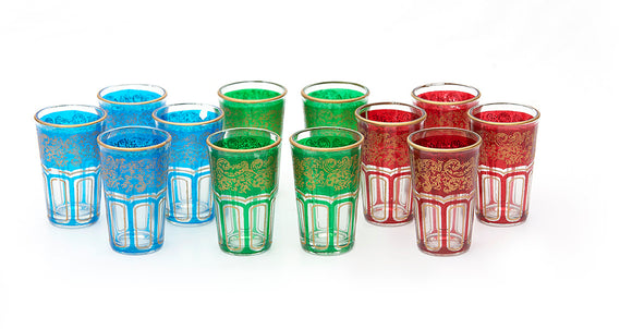 Traditional Moroccan Tea Glasses