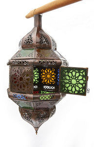 Hanging Moroccan Lantern-Medium Size-Lacy Cut Outs