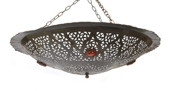 Hanging Moroccan Metal Lamp