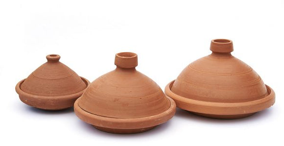 X-Large Sized, Unglazed Moroccan Cooking Tagine