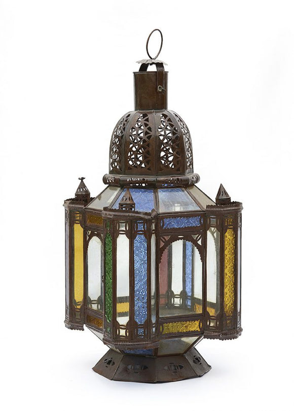 Traditional Moroccan Table Top Glass Lantern
