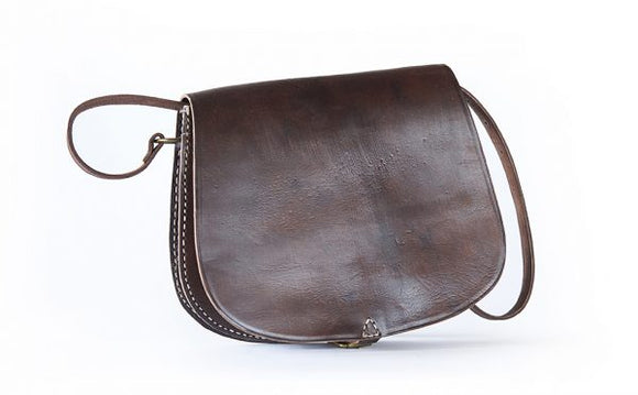 Tough Moroccan Leather Shoulder Bag