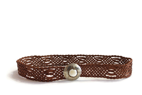 Hand Braided Wide Moroccan Leather Belt