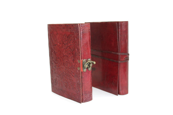 Rustic Hand Stitched Leather Journals with Cotton Paper