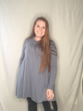 Cement Long Sleeve Tunic