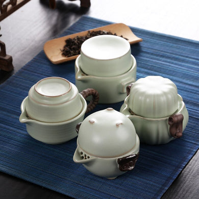 Tea Sets Kung Fu Ceramics Tea Set 1 Pot 1 Cup Tea Pots High Quality Elegant Gaiwan Beautiful and Easy Tea Pot Kettle