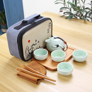 Tea Sets Kung Fu Ceramics Tea Set 1 Pot 4 Cups Tea Pots High Quality Elegant Gaiwan Beautiful and Easy Tea Pot Kettle