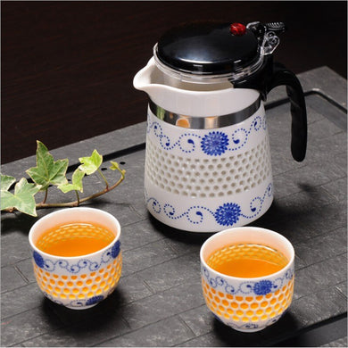 Tea Sets Heat Resistant ceramics Tea Pot Tea Infuser Chinese Tea Set Kettle Coffee Glass Maker Convenient Office Tea Pots