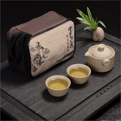 Tea set Include 1 Pot 2 Cup,High quality elegant gaiwan,Beautiful and easy teapot kettle and teacup,Travel kettle,free shipping