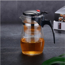 Load image into Gallery viewer, Tea Pots Heat Resistant Glass Tea Pot Tea Infuser Chinese Kung Fu Tea Set Kettle Coffee Glass Maker Convenient Office Tea Sets