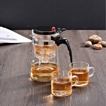 Load image into Gallery viewer, Tea Infuser Tea Pots Heat Resistant Glass Tea Set Chinese Tea Sets Two cups Kettle Coffee Glass Maker Convenient Office Tea Pot
