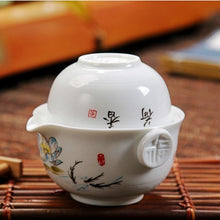 Load image into Gallery viewer, Tea set Include 1 Pot 1 Cup,High quality elegant gaiwan,Beautiful and easy teapot kettle and teacup,Travel kettle,free shipping