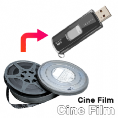 Standard 8 / Super 8 (Silent) Cine Film to USB