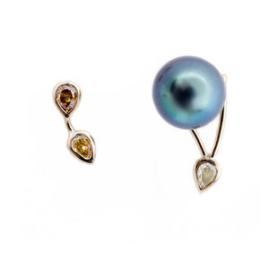 Galaxy Tahitian pearl mismatched earrings