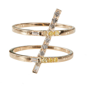 Astro stament diamond ring