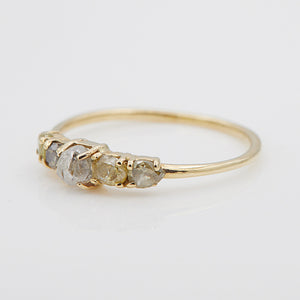 Stardust rough multi color diamond ring