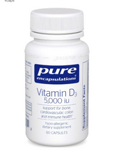 Load image into Gallery viewer, High Quality Vitamin D3 5000iu (60 vegetarian capsules)