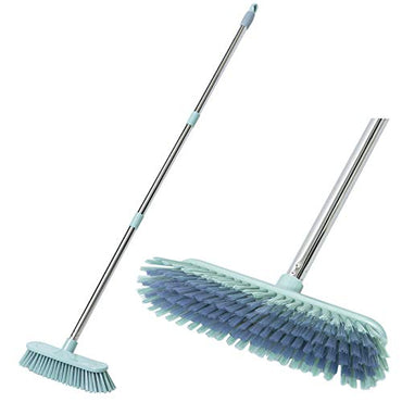 "Floor Scrub Brush Shower Cleaning Scrubber Brush Bath Tub and Tile Scrubber Detachable Long Handle Stiff Bristles for Cleaning Shower Bathroom Kitchen Balcony Wall 47"" Length"