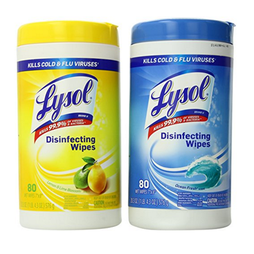 Lysol Cleaning 80 Wipes (Case of 6)