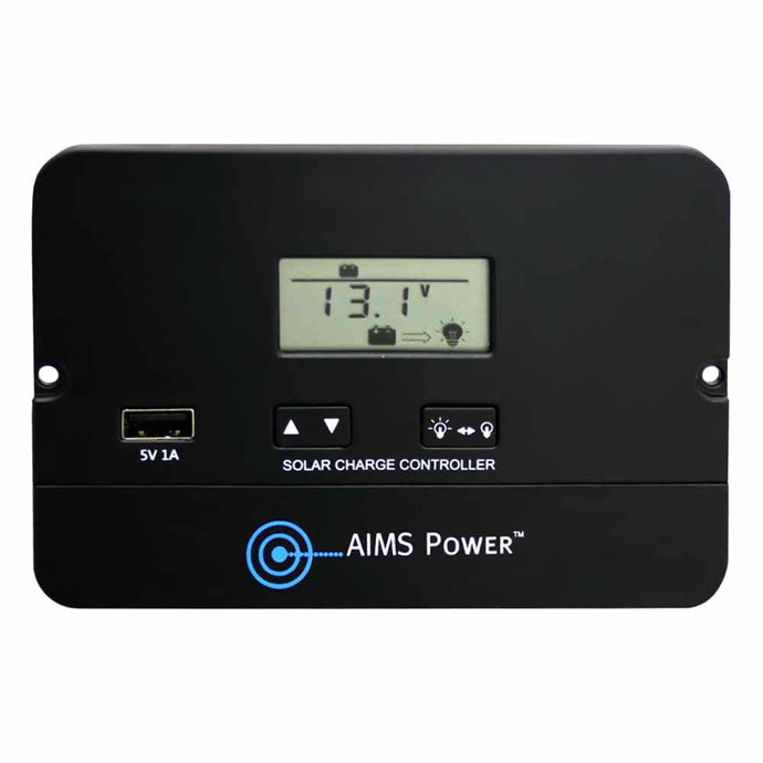 220Vac 50HZ Inverters - Aims Solar Charge Controller Flush Mount 10 Amp PWM 12/24V