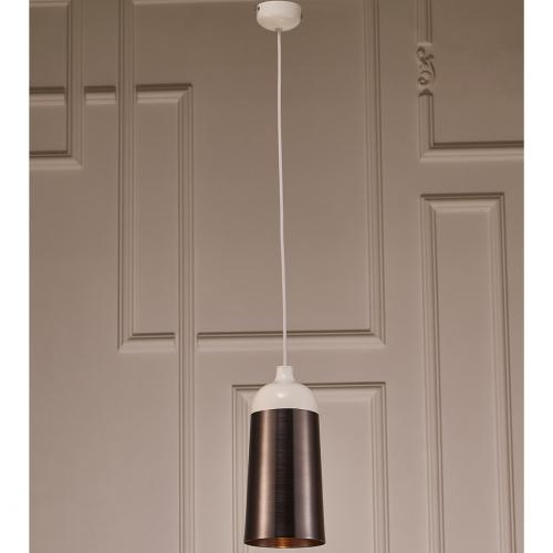 Abel Pendant Lamp With Silver And White Aluminum